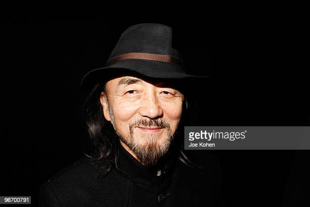 Designer Yohji Yamamoto attends Y-3 Fall 2010 during Mercedes-Benz Fashion Week at Park Avenue Armory on February 14, 2010 in New York City.