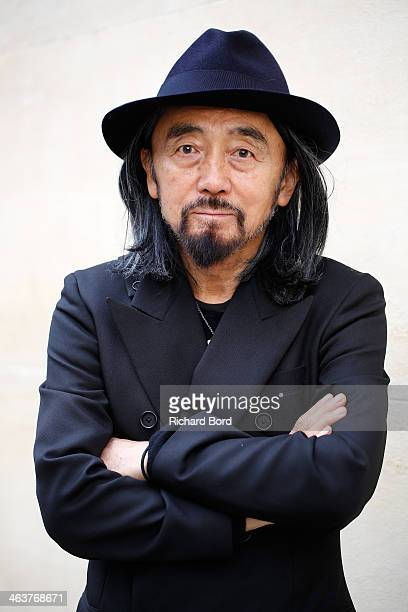 Designer Yohji Yamamoto poses before the Y-3 Menswear Fall/Winter 2014-2015 Show as part of Paris Fashion Week at Couvent des Cordeliers on January...