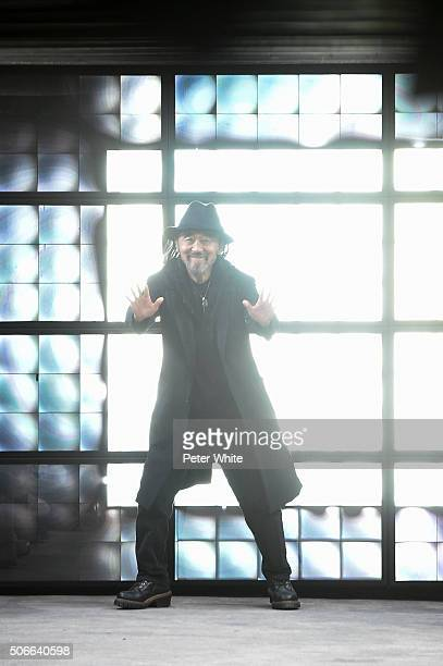 Designer Yohji Yamamoto walks the runway during the Y3 Menswear Fall/Winter 20162017 show as part of Paris Fashion Week on January 24 2016 in Paris...
