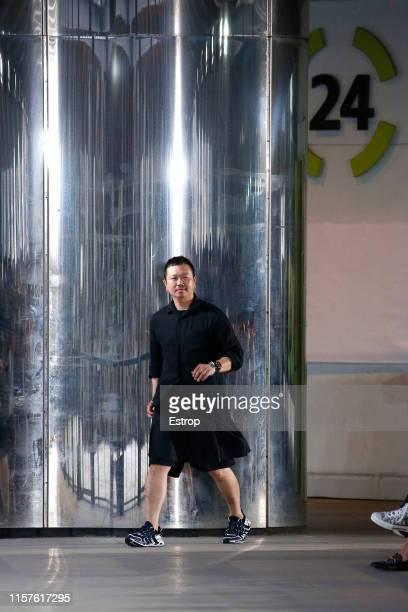Designer Yosuke Aizawa at the White Mountaineering show during Paris Men's Fashion Week Spring/Summer 2020 on June 22 2019 in Paris France