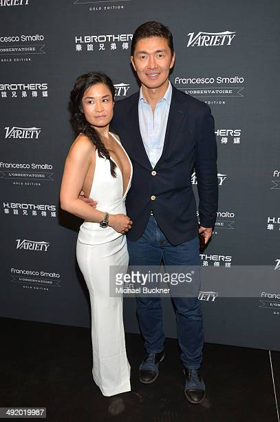 Designer Youn Chong Bak and actor Rick Yune attend the Huayi Brothers At 20 Party during the 67th Annual Cannes Film Festival at L'Observatoire...