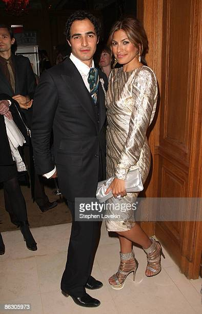 Designer Zac Posen and actress Eva Mendes attends the Cartier 100th Anniversary in America Celebration at Cartier Fifth Avenue Mansion on April 30...