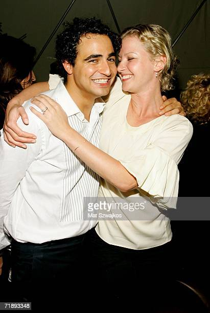 Designer Zac Posen and actress Gretchen Mol pose at the Zac Posen Spring 2007 after party at the Soho Grand Dome during Olympus Fashion Week...