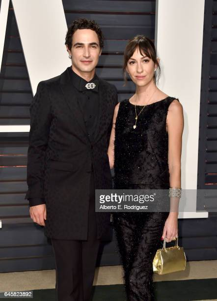 Designer Zac Posen and Gia Coppola attend the 2017 Vanity Fair Oscar Party hosted by Graydon Carter at Wallis Annenberg Center for the Performing...