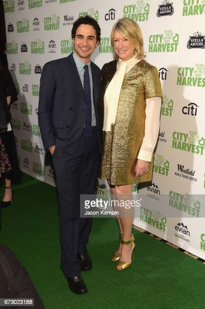 Designer Zac Posen and Martha Stewart attends the City Harvest's 23rd Annual Evening Of Practical Magic at Cipriani 42nd Street on April 25, 2017 in...