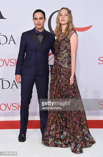 Designer Zac Posen and Maya ThurmanHawke attend the 2015 CFDA Fashion Awards at Alice Tully Hall at Lincoln Center on June 1 2015 in New York City