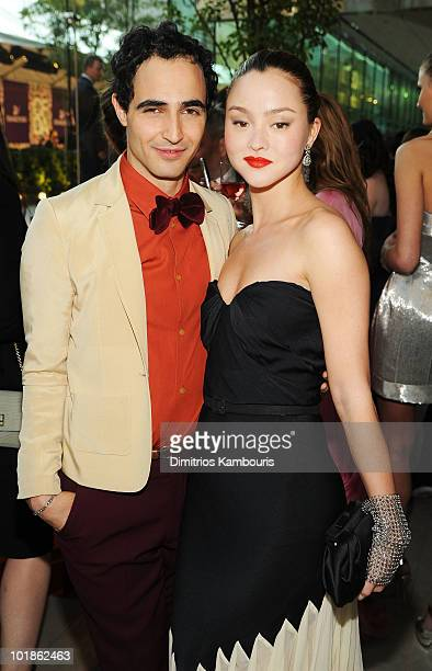 Designer Zac Posen and model Devon Aoki attend the 2010 CFDA Fashion Awards at Alice Tully Hall Lincoln Center on June 7 2010 in New York City