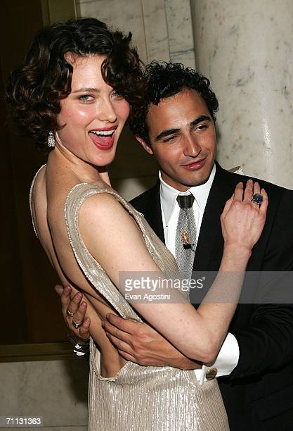 Designer Zac Posen and model Shalom Harlow attend the 2006 CFDA Awards at the New York Public Library June 5 2006 in New York City