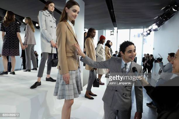 Designer Zac Posen and models attend the Brooks Brothers presentation on February 2017 during New York Fashion Week on February 15 2017 in New York...