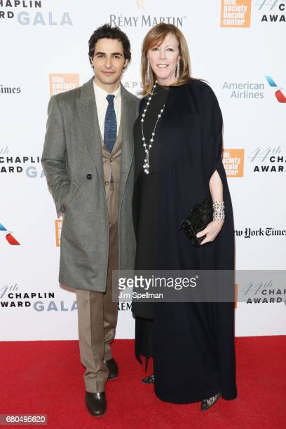 Designer Zac Posen and TriBeCa Film Institute cofounder Jane Rosenthal attend the 44th Chaplin Award Gala at David H Koch Theater at Lincoln Center...