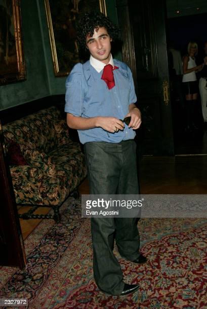 """Designer Zac Posen at the """"MOONAGE DAYDREAM: The Life and Times of Ziggy Stardust"""" book party at The National Arts Club in New York City. July 30,..."""