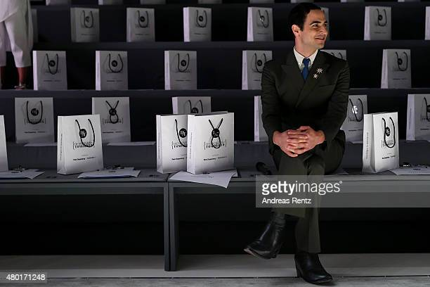 Designer Zac Posen is seen at the rehearsal ahead of the 'Designer for Tomorrow' by Peek & Cloppenburg and Fashion ID show during the Mercedes-Benz...