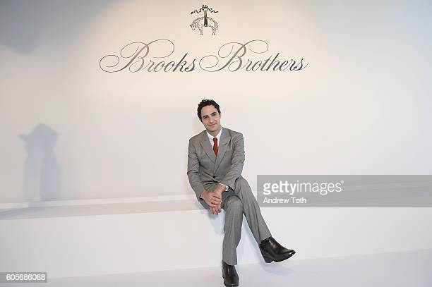 Designer Zac Posen poses for a photo at the Brooks Brothers SS 2017 Presentation during New York Fashion Week with creative director Zac Posen at The...
