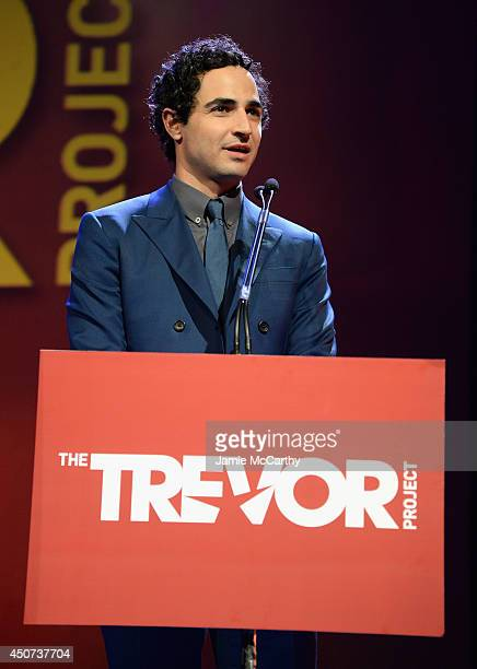 Designer Zac Posen speaks onstage at the Trevor Project's 2014 'TrevorLIVE NY' Event at the Marriott Marquis Hotel on June 16 2014 in New York City