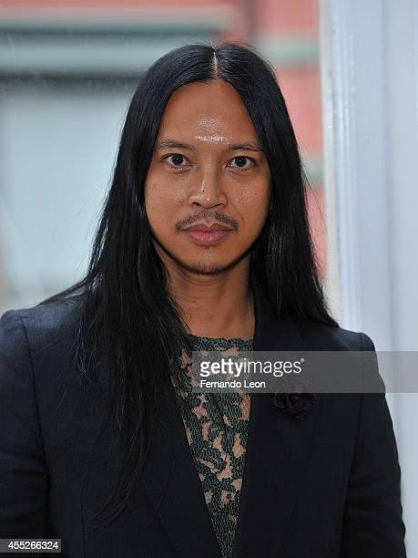 Designer Zaldy Goco photographed during the Zaldy presentation at Zaldy Studio on September 11 2014 in New York City