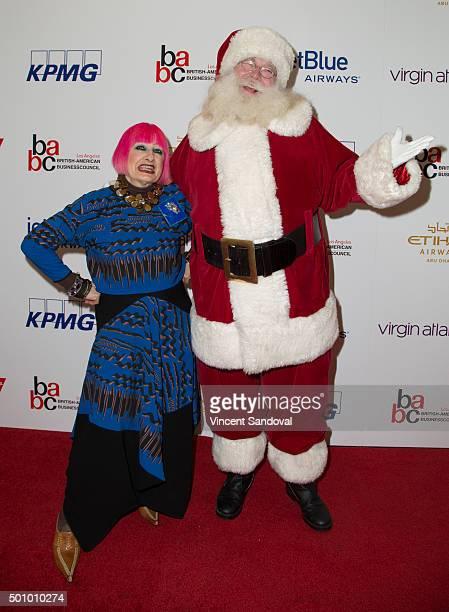 Designer Zandra Rhodes attends the BABC LA 56th Annual Christmas Luncheon at Fairmont Miramar Hotel on December 11 2015 in Santa Monica California