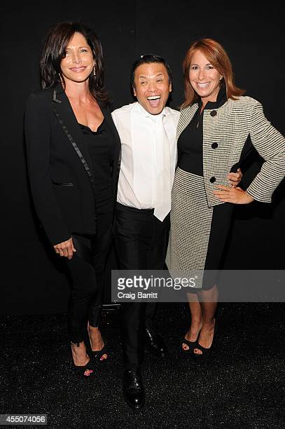 Designer Zang Toi and Jill Zarin attend the Zang Toi fashion show during MercedesBenz Fashion Week Spring 2015 at The Salon at Lincoln Center on...