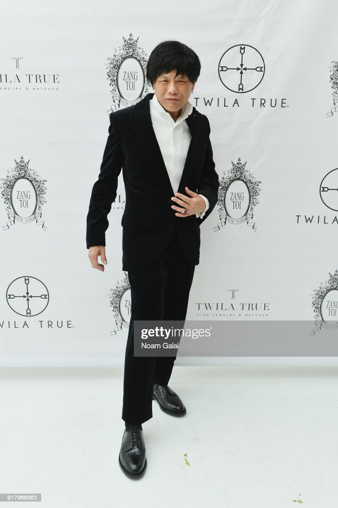 Designer Zang Toi backstage for Zang Toi during New York Fashion Week: The Shows at Pier 59 on February 13, 2018 in New York City.