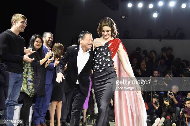 Designer Zang Toi walks the Zang Toi show during New York Fashion Week The Shows at Gallery II at Spring Studios on February 13 2019 in New York City