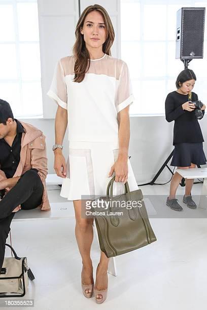 Designer Zani Gugelmann attends the Philosophy by Natalie Ratabesi fashion show during MercedesBenz Fashion Week Spring 2014 at Roseland Ballroom on...
