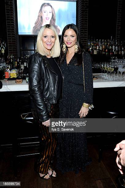 Designer Zanna Roberts Rassi and Georgina Chapman attend the Project Runway All Stars Season 3 premiere party presented by The Weinstein Company and...