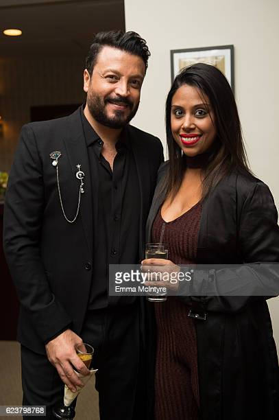 Designer Zuhair Murad and stylist Hema Persad attend the Zuhair Murad cocktail party at Sunset Tower Hotel on November 16 2016 in West Hollywood...