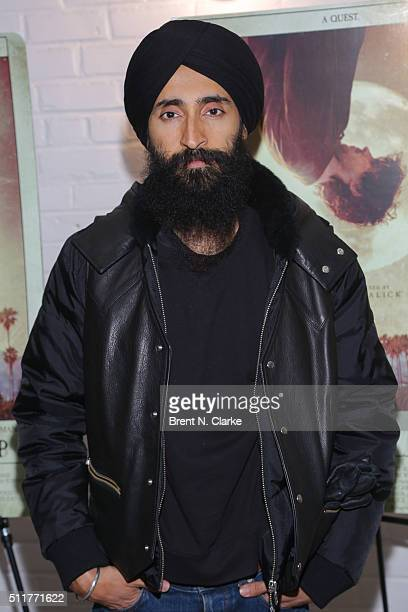 Designer/actor Waris Ahluwalia attends the Knight of Cups New York screening held at Metrograph on February 22 2016 in New York City