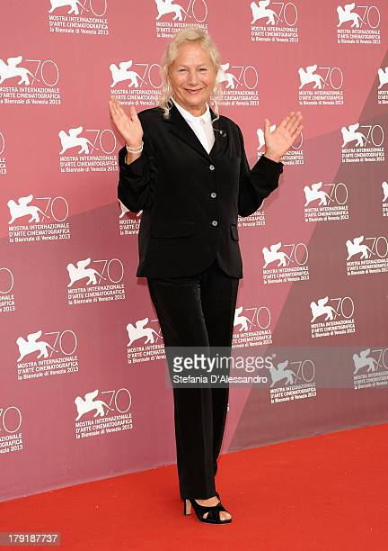 Designer/director Agnès b attends 'Je M' Appelle Hmmm' Photocall during the 70th Venice International Film Festival at Palazzo del Casino on...
