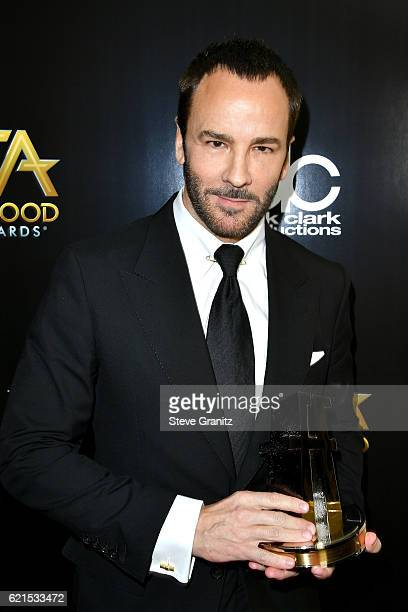 Designer/director Tom Ford recipient of the 'Hollywood Breakthrough Director Award' for 'Nocturnal Animals' poses in the press room at the 20th...
