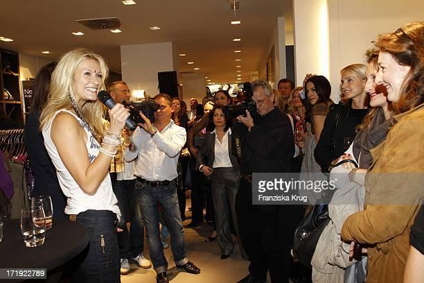 Designerin Mia Florentine Weiss Beim Comma Store Re-Opening In Hamburg