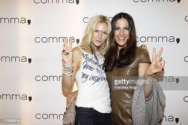 Designerin Mia Florentine Weiss Und Schauspielerin Bettina Zimmermann Beim Comma Store Re-Opening In Hamburg