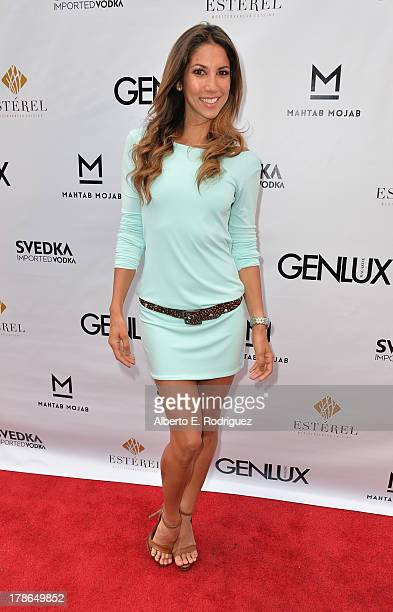 Designer/model Leilani Dowding arrives to Genlux Magazine's Issue Release party featuring Erika Christensen at The Sofitel Hotel on August 29 2013 in...