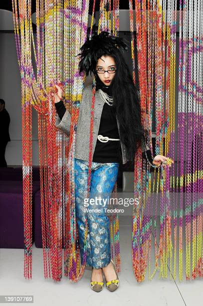 Designer/musician Arielle attends The Blonds Fall 2012 fashion show after party during MercedesBenz Fashion Week at Yotel on February 15 2012 in New...