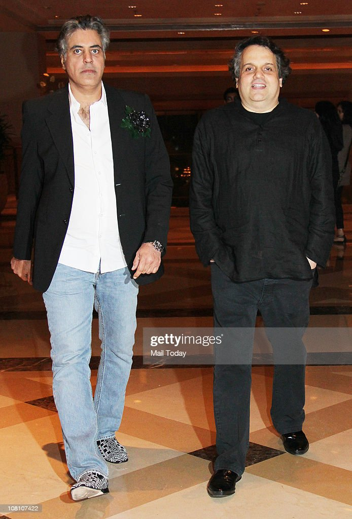 Designers Abu Jani and Sandeep Khosla at the 10th Wedding Anniversary Party of Akshay Kumar and Twinkle Khanna