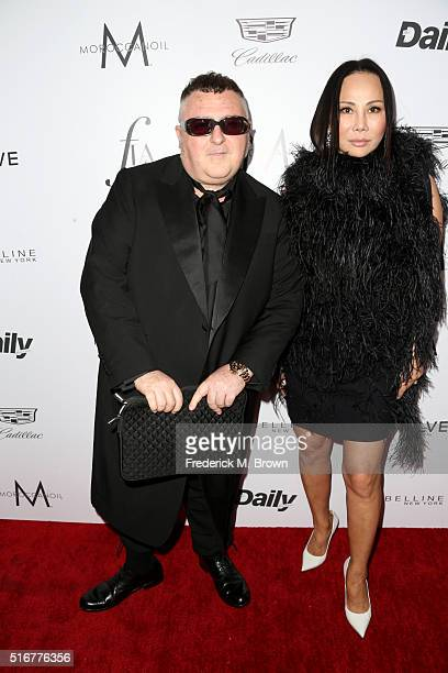 Designers Alber Elbaz and Eva Chow attends the Daily Front Row 'Fashion Los Angeles Awards' at Sunset Tower Hotel on March 20 2016 in West Hollywood...