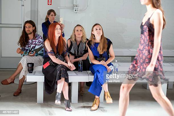 Designers Alexa Adams and Flora Gill seen front row during rehearsal for the Ohne Titel fashion show during Spring 2016 New York Fashion Week The...