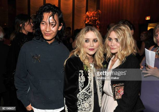 Designers Alexander Wang, Mary-Kate Olsen and Ashley Olsen attend the new member induction to the Council Of Fashion Designers of America at the Four...