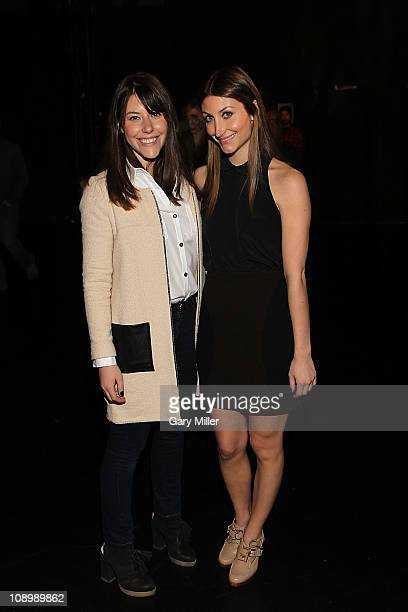 Designers Alexandra O'Neil and sister Kristen O'Neill attend the Porter Grey Fall 2011 presentation during MercedesBenz Fashion Week at The Box at...