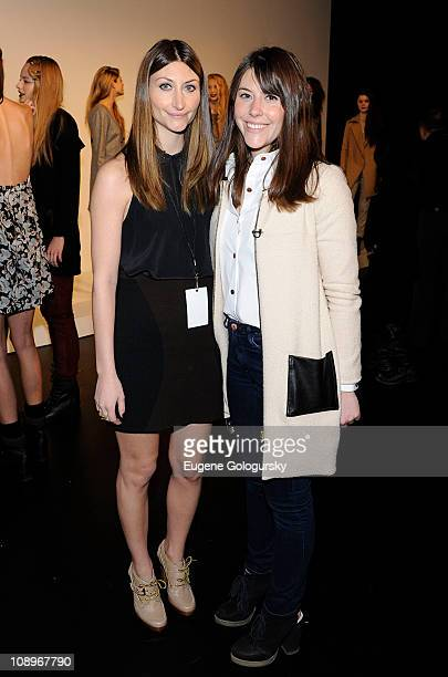 Designers Alexandra O'Neill and Kristen O'Neill attend the Porter Grey Fall 2011 presentation during MercedesBenz Fashion Week at The Box at Lincoln...