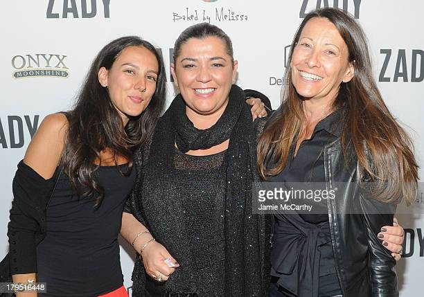 Designers Alicia and Donatella and Giulia Slynn attends a celebration for NYC designers and influencers for the new ecommerce brand Zady at special...