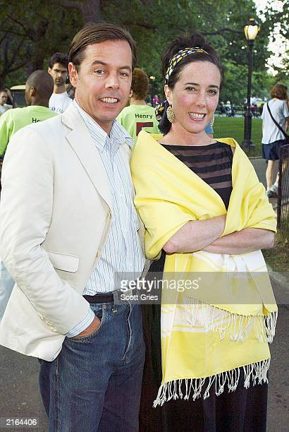 Designers Andy and Kate Spade during a party to celebrate the opening night of Henry V as part of Shakespeare In The Park to benefit The Public...
