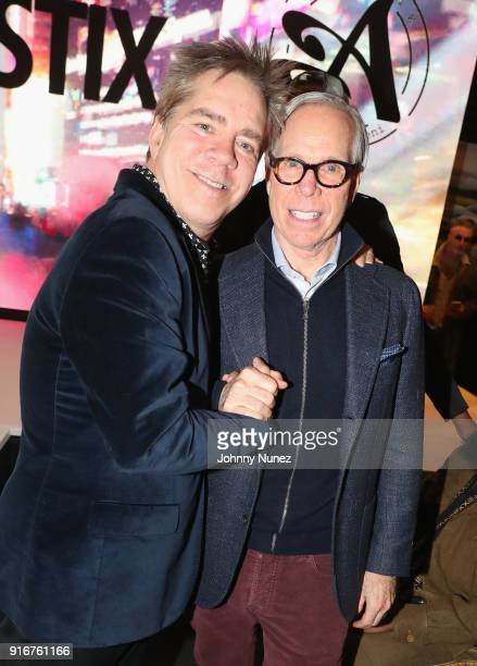 Designers Andy Hilfiger and Tommy Hilfiger attend Andy Hilfiger Presents ARTISTIX on February 10 2018 in New York City