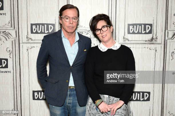 Designers Andy Spade and Kate Spade attend AOL Build Series to discuss their latest project Frances Valentine at Build Studio on April 28 2017 in New...