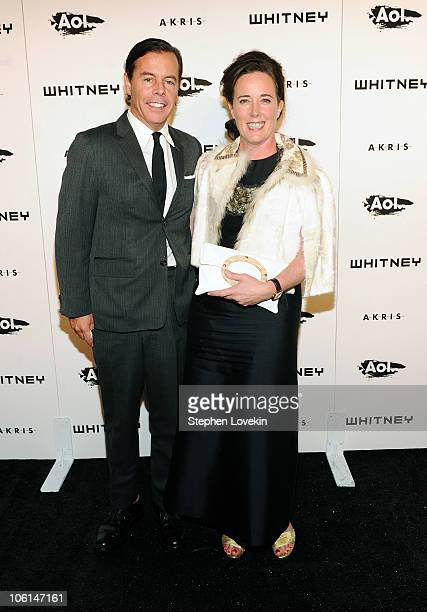 Designers Andy Spade and Kate Spade attend the 2010 Whitney Gala and Studio Party at The Whitney Museum of American Art on October 26 2010 in New...