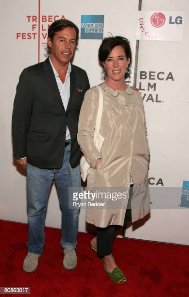 Designers Andy Spade and Kate Spade attend the premiere of 'Lake City' during the 2008 Tribeca Film Festival on April 25 2008 in New York City