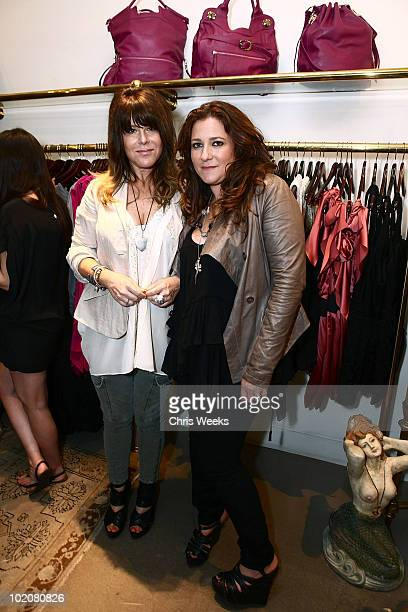Designers Anna Corinna and Dana Foley attend the Foley Corinna Melrose Avenue Event With Poshglamcom at Foley Corinna on June 9 2010 in Los Angeles...