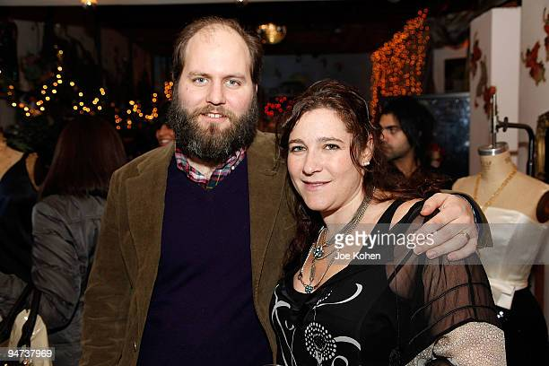 Designers Anna Corinna and her husband Peter Langway attend the Annual Holiday Party at Foley Corinna on December 17 2009 in New York City