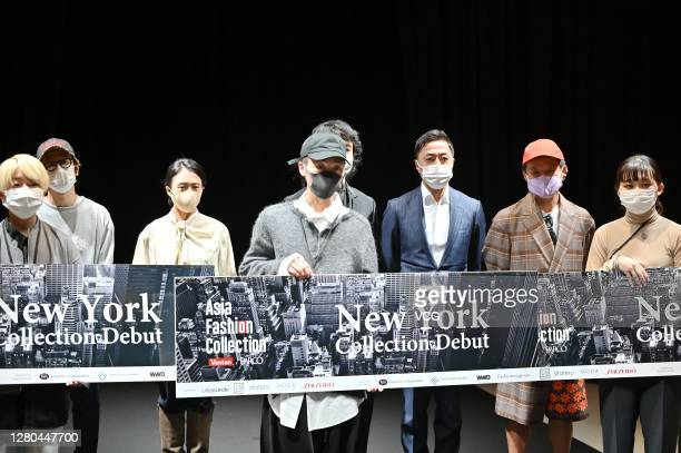 Designers attends awarding ceremony of the 8th Asia Fashion Collection during Rakuten Fashion Week TOKYO 2021 spring/summer on October 15 2020 in...