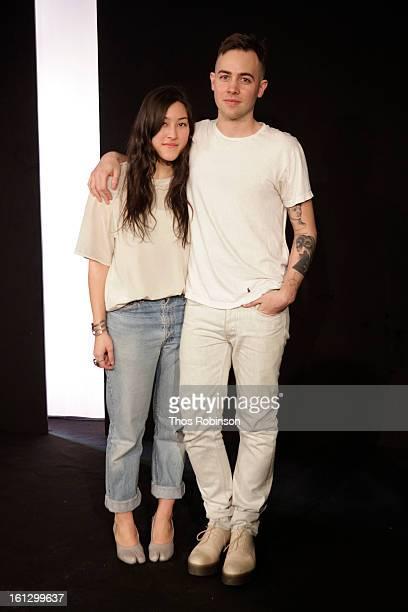 Designers Ava Hama and Nolan Bellavance attend Bellavance Presentation MADE For Peroni Young Designer Award Winner at Milk Studios on February 9 2013...