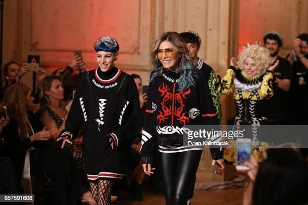 Designers Begum Berdan and Deniz Berdan on the runway at the MercedesBenz Presents DB Berdan show during MercedesBenz Istanbul Fashion Week March...